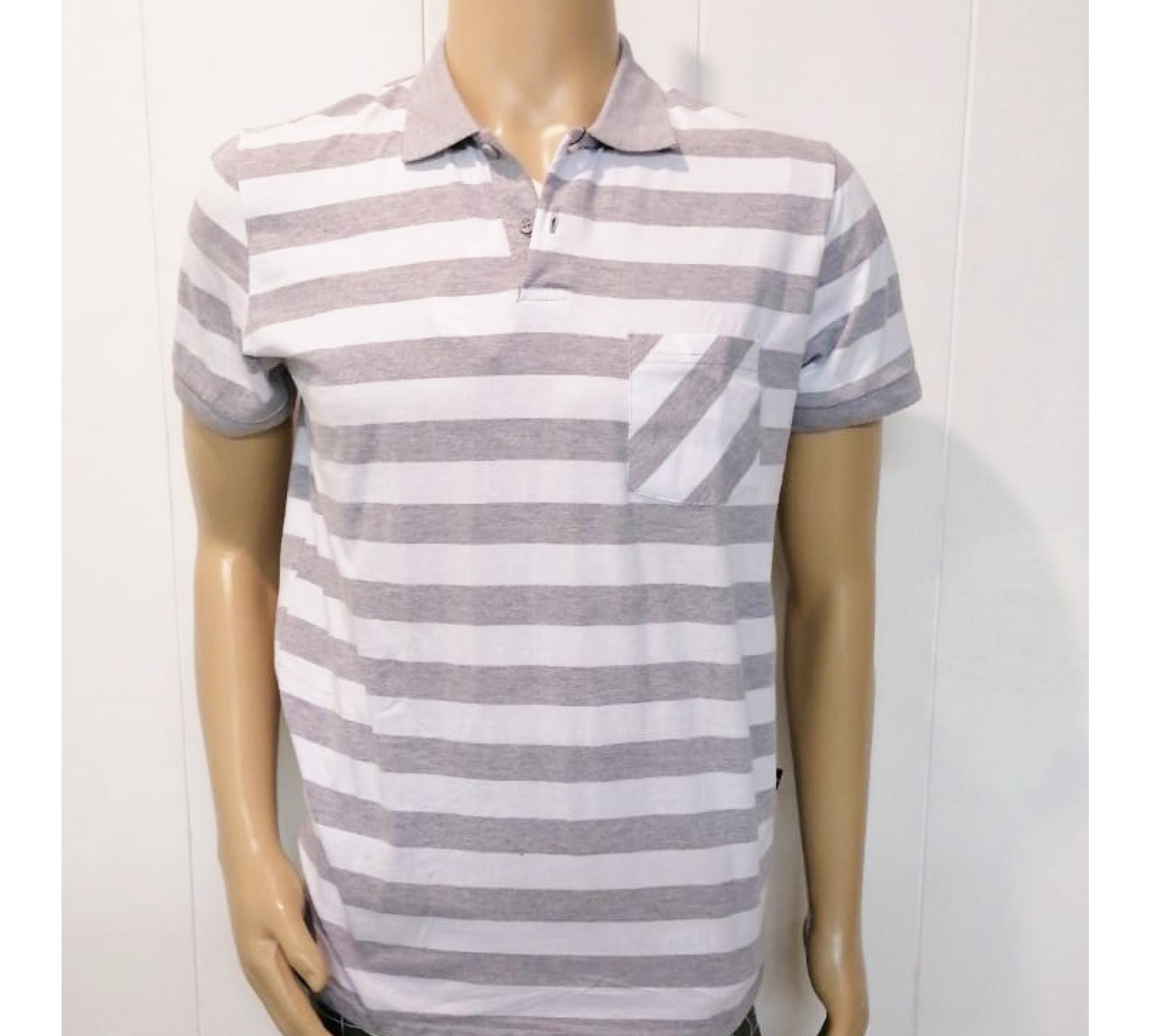 Рубашка мужская поло , комбинированая