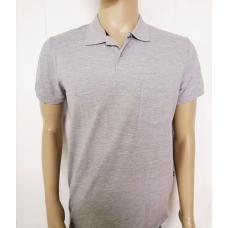 Рубашка мужская -  поло,  серая