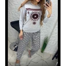 Пижама женская с длинным рукавом , Турция
