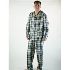 Пижама мужская на пуговицах утепленная